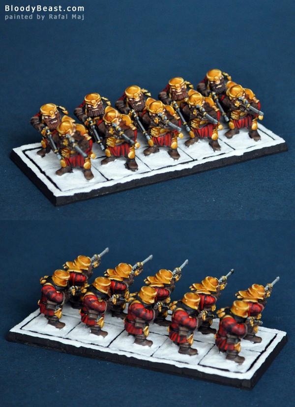 Dwarf Ironwatch Regiment painted by Rafal Maj (BloodyBeast.com)
