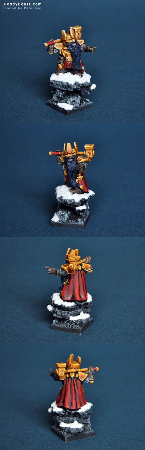 Mantic Dwarf King painted by Rafal Maj (BloodyBeast.com)