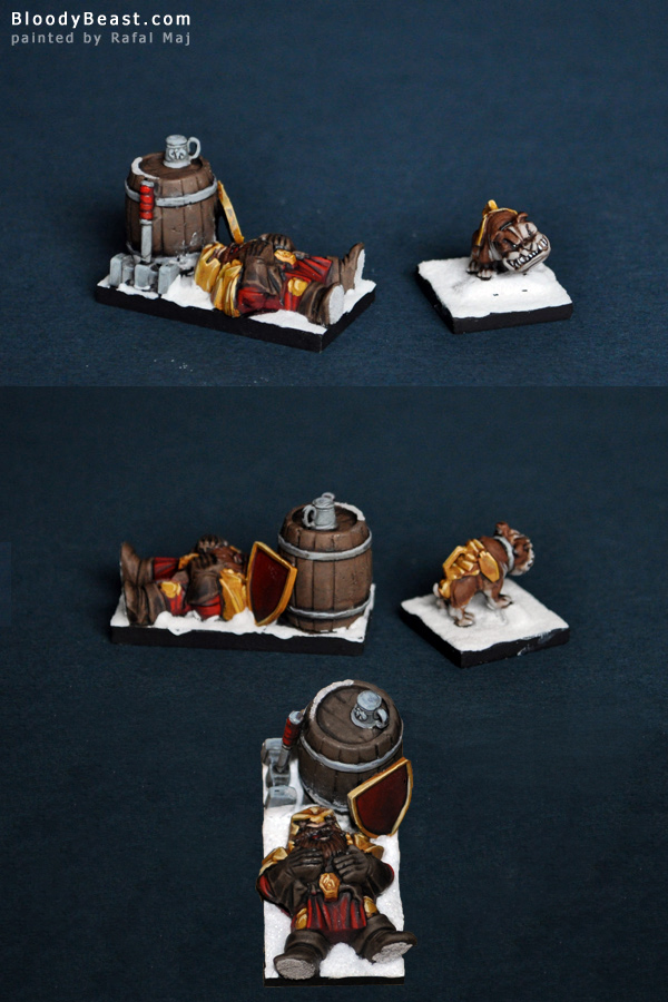Dwarf Mastiff and Drunken Ironclad painted by Rafal Maj (BloodyBeast.com)