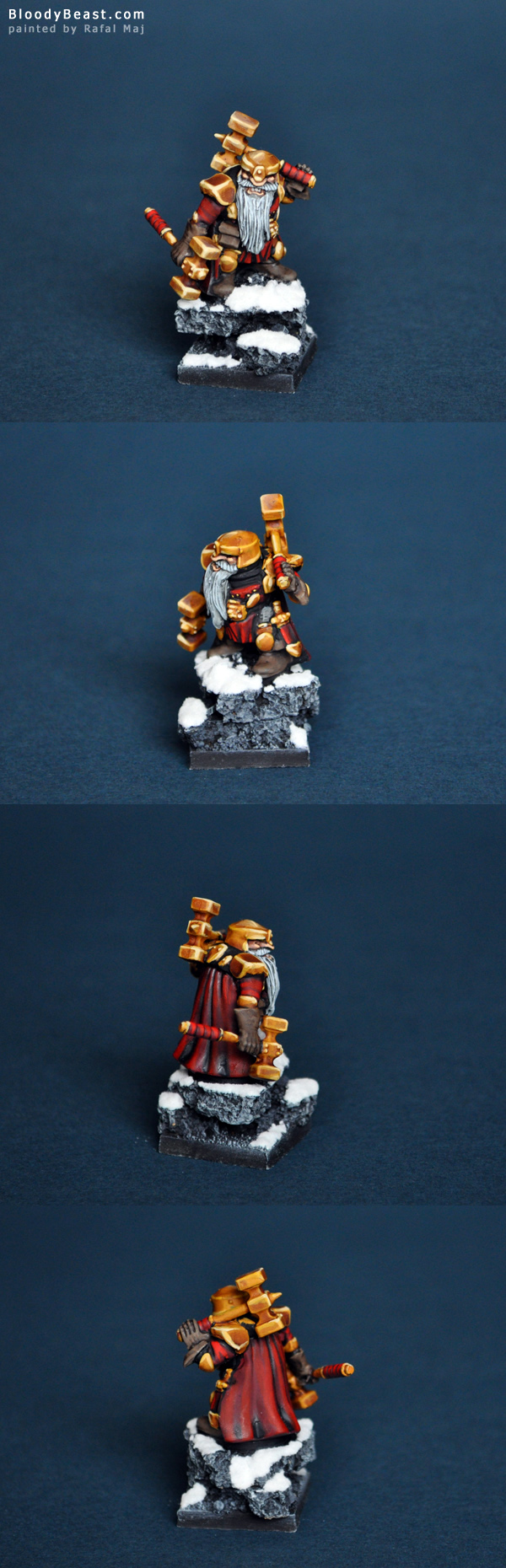 Mantic Dwarf Warsmith painted by Rafal Maj (BloodyBeast.com)