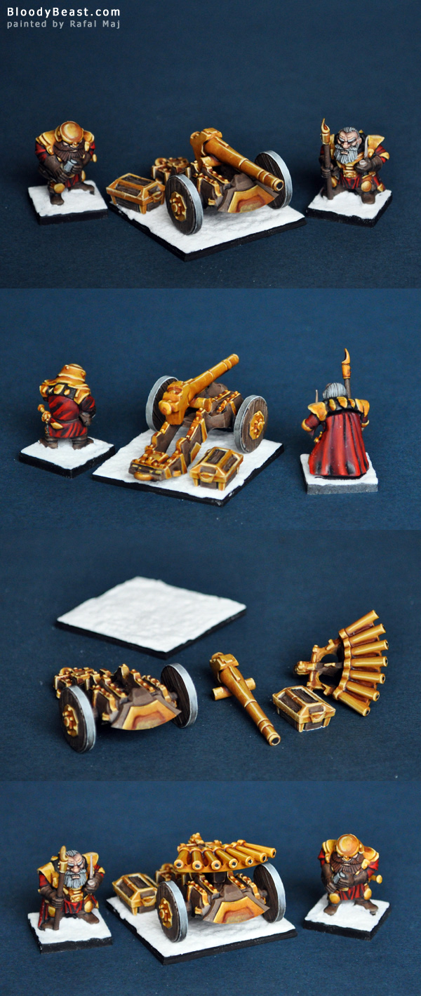 Dwarf Ironblecher Canon or Organ Gun painted by Rafal Maj (BloodyBeast.com)