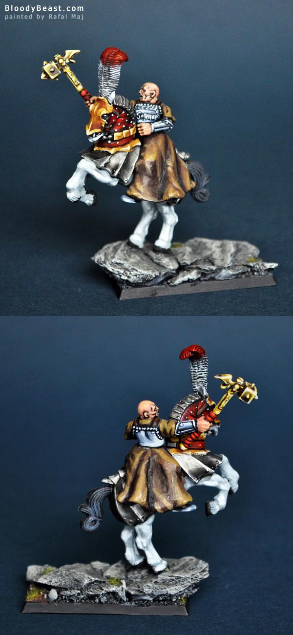 Warrior Priest of Sigmar Mounted painted by Rafal Maj (BloodyBeast.com)
