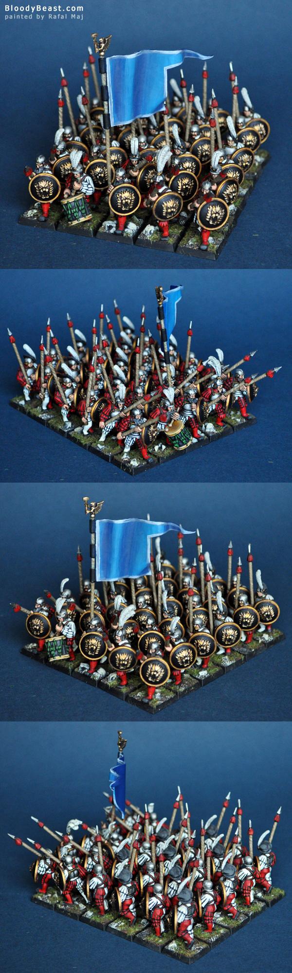 Empire Spearmen Regiment painted by Rafal Maj (BloodyBeast.com)