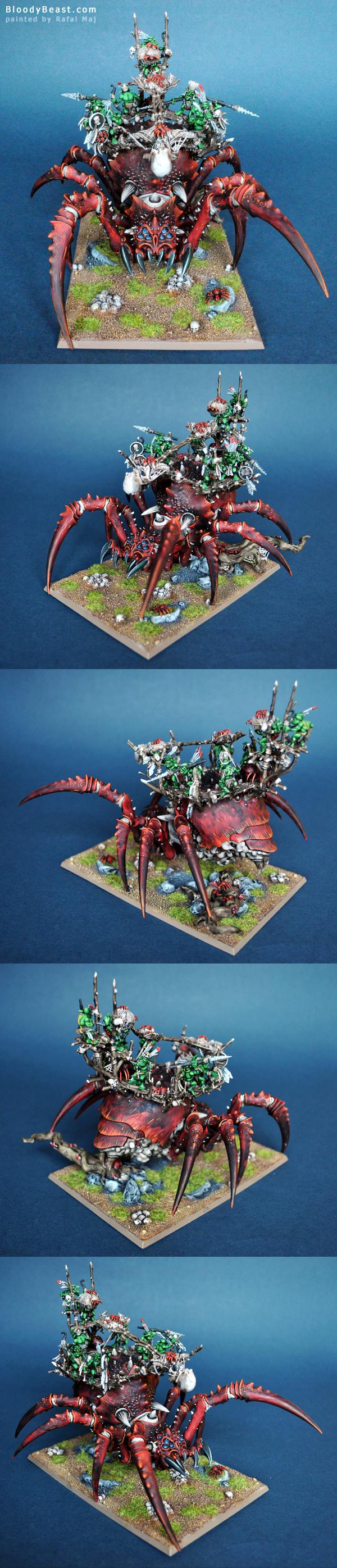 Arachnarok Spider with Catapult painted by Rafal Maj (BloodyBeast.com)