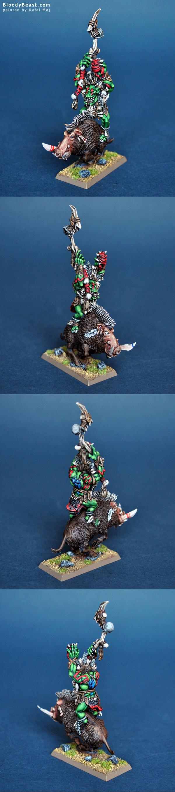 Savage Orc Great Shaman on Boar painted by Rafal Maj (BloodyBeast.com)