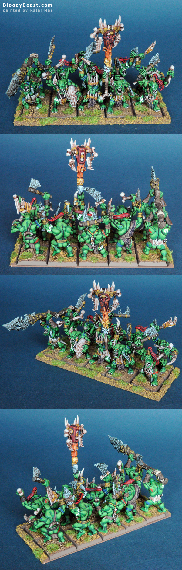 Savage Orc Boyz with Command Group painted by Rafal Maj (BloodyBeast.com)