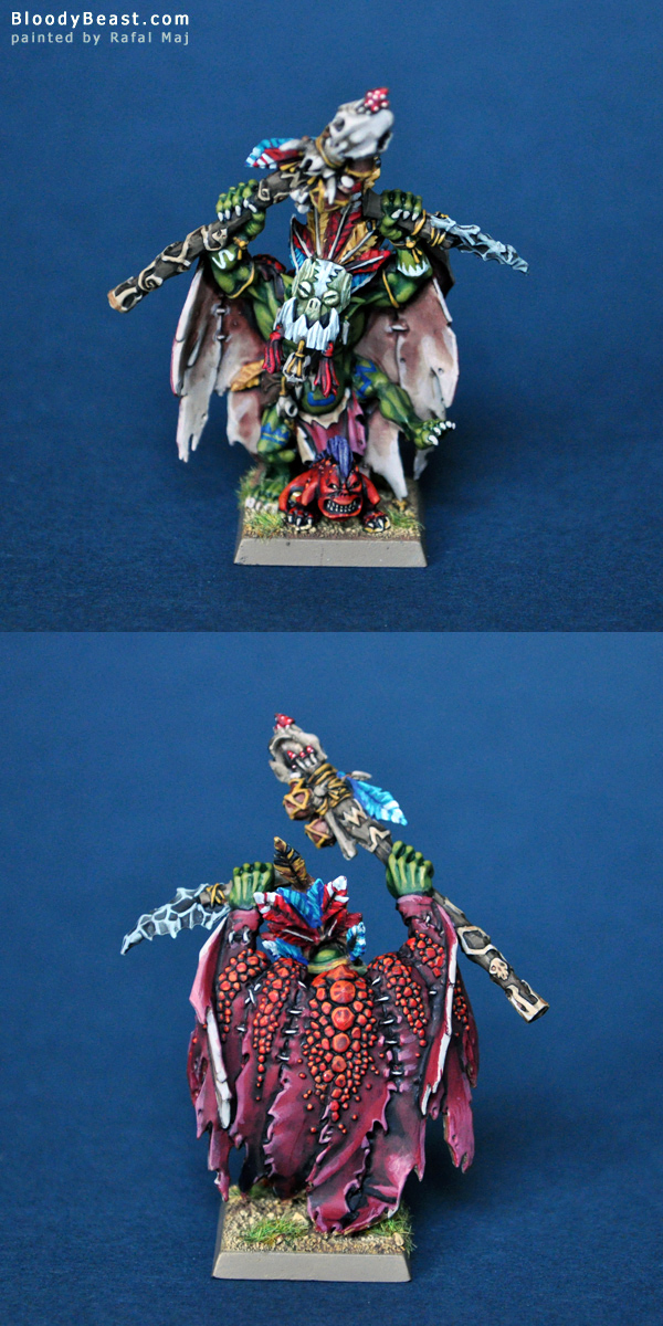 Wurrzag Ud Uba Zahuru, Savage Orc Great Shaman painted by Rafal Maj (BloodyBeast.com)