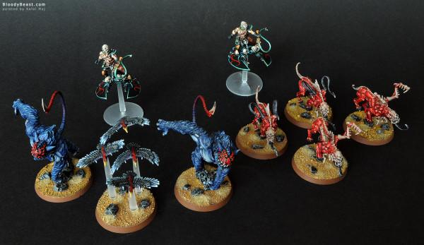 Dark Eldar Beastmasters Truppe painted by Rafal Maj (BloodyBeast.com)