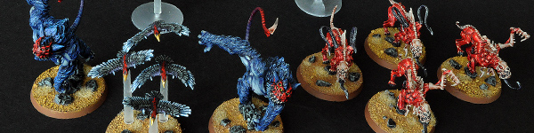 Dark Eldar Beastmasters with Beasts