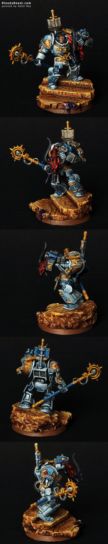 Grey Knight Terminator Librarian painted by Rafal Maj (BloodyBeast.com)