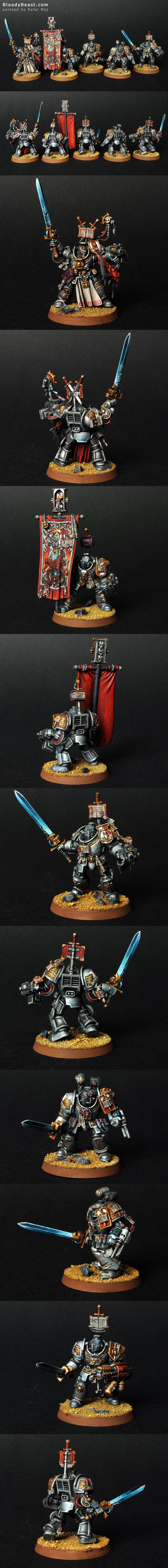 Grey Knight Terminator Squad painted by Rafal Maj (BloodyBeast.com)