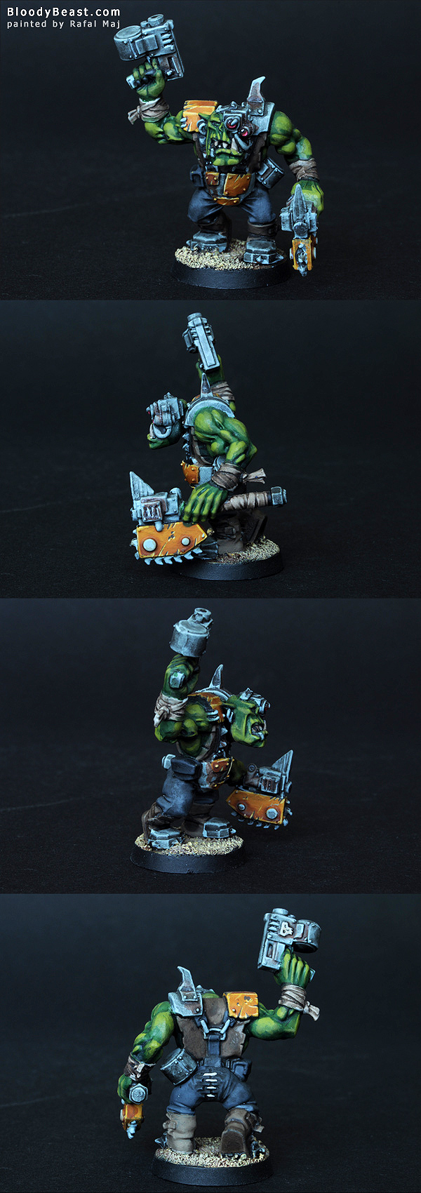 Bad Moon Ork Nob painted by Rafal Maj (BloodyBeast.com)
