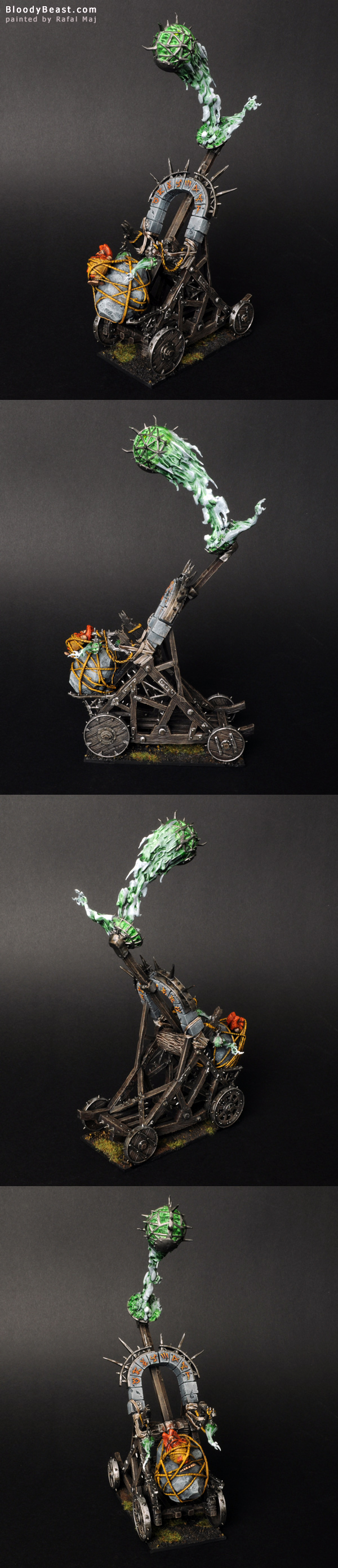 Skaven Plagueclaw Catapult painted by Rafal Maj (BloodyBeast.com)