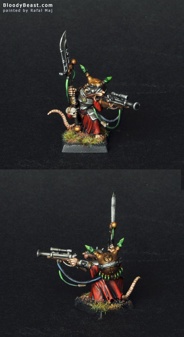 Skaven Warlock Engineer painted by Rafal Maj (BloodyBeast.com)