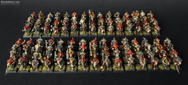 Skaven Clanrat Hordes painted by Rafal Maj (BloodyBeast.com)