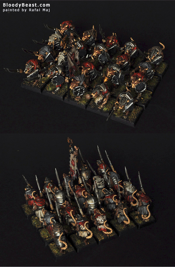 Skaven Clanrats painted by Rafal Maj (BloodyBeast.com)