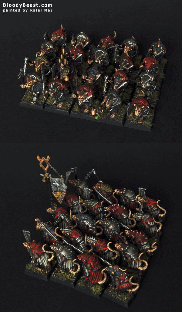 Skaven Clanrats with Hand Weapon painted by Rafal Maj (BloodyBeast.com)