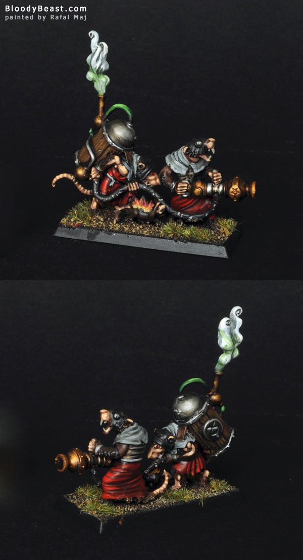 Skaven Warpfire Thrower painted by Rafal Maj (BloodyBeast.com)