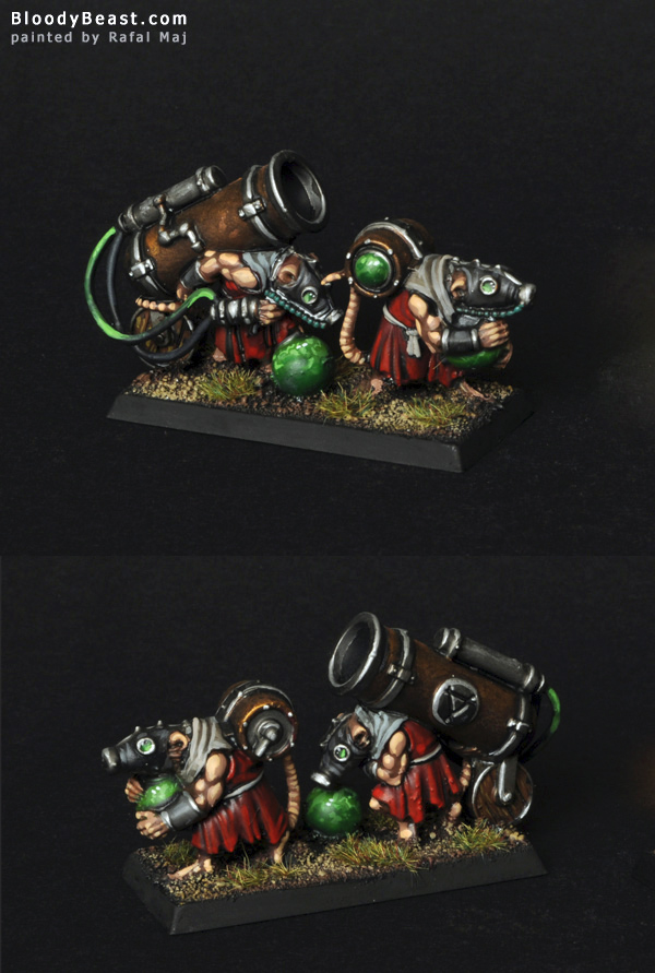 Skaven Poisoned Wind Mortar painted by Rafal Maj (BloodyBeast.com)