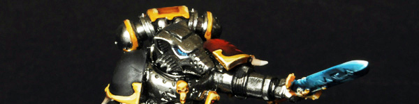 Space Wolf Lone Wolf with Chrome Metallic Armor