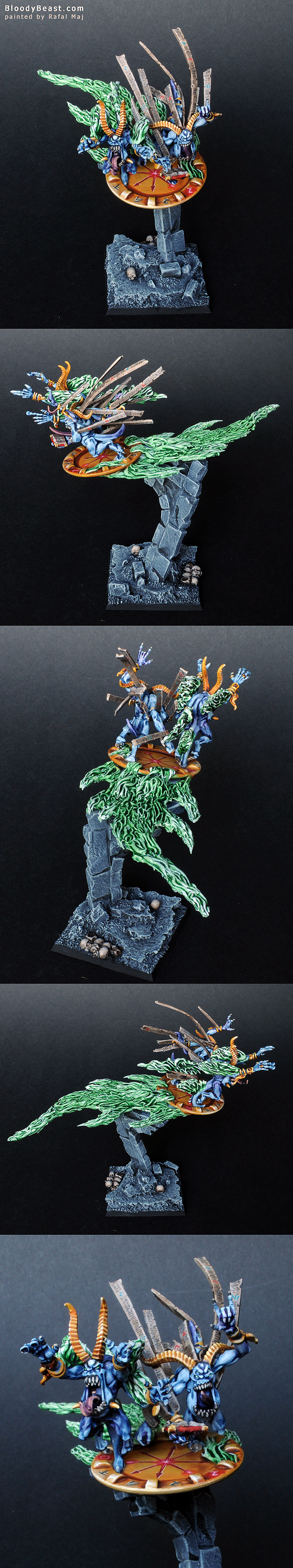 Blue Scribes of Tzeentch painted by Rafal Maj (BloodyBeast.com)