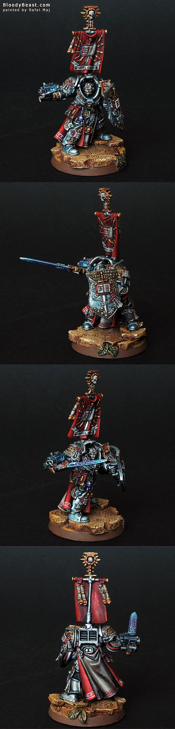 Lord Kaldor Draigo the Supreme Grand Master of the Grey Knights painted by Rafal Maj (BloodyBeast.com)