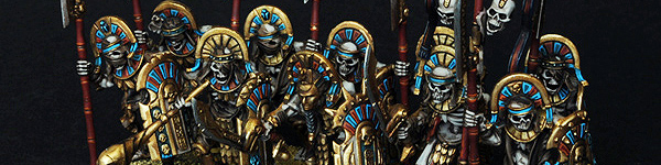 Tomb Kings Tomb Guards with Helbards and Shields