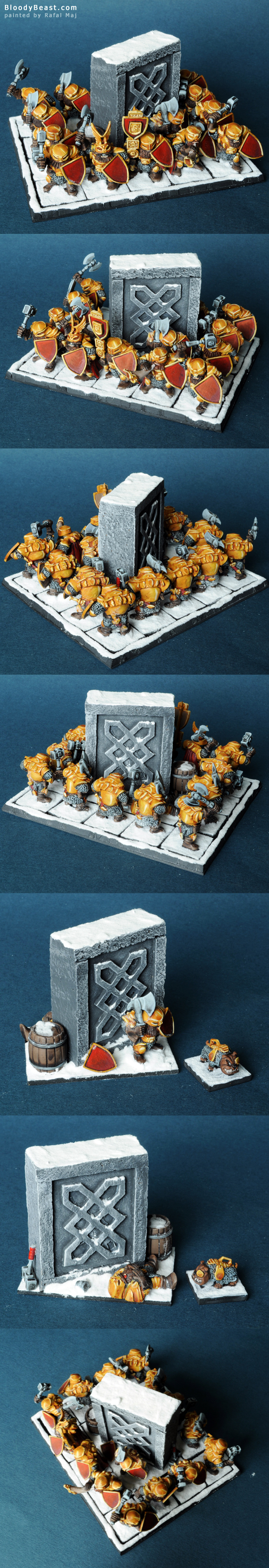 Mantic Dwarf IronGuard Regiment painted by Rafal Maj (BloodyBeast.com)