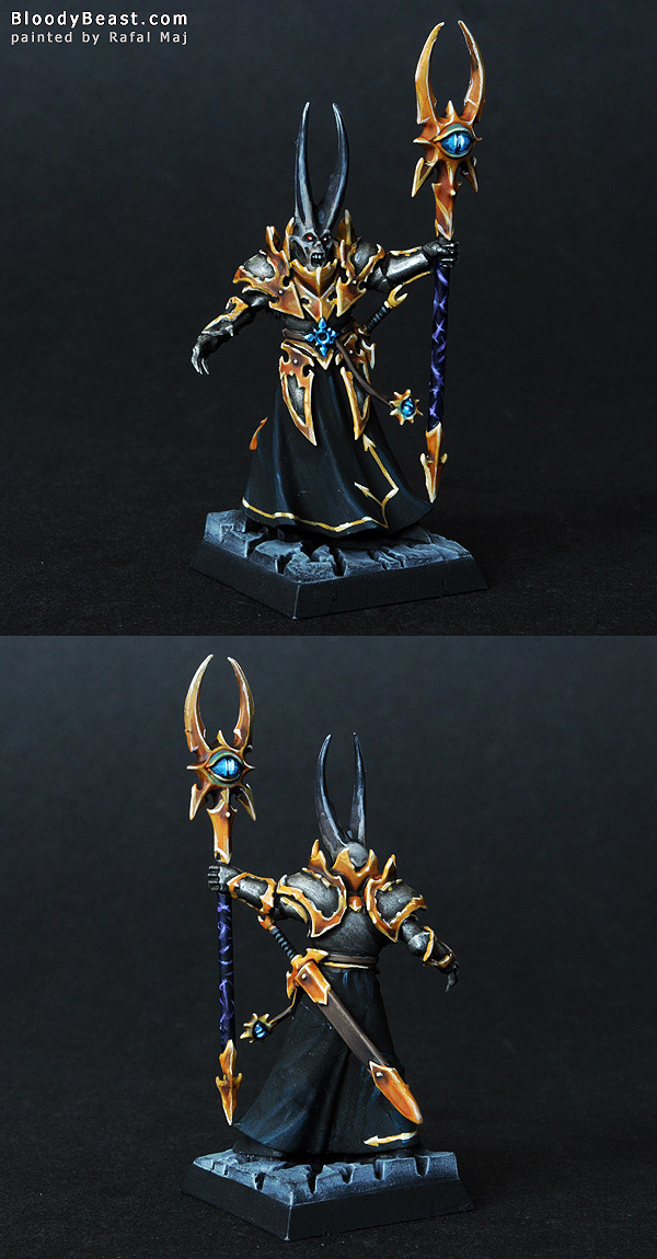Warriors of Chaos Sorcerer Lord painted by Rafal Maj (BloodyBeast.com)