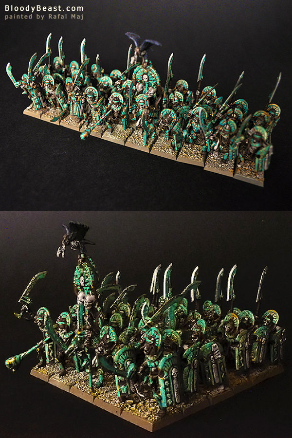 Tomb Kings Tomb Guard Horde (Perrys' Style) painted by Rafal Maj (BloodyBeast.com)