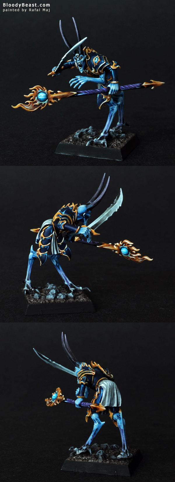 Warriors of Chaos Tzeentch Sorcerer Lord painted by Rafal Maj (BloodyBeast.com)