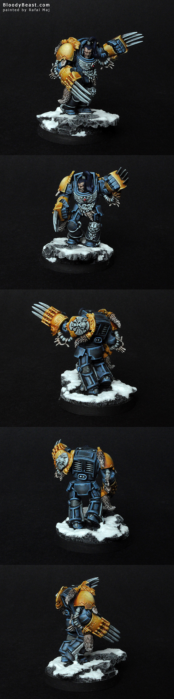 Space Wolf Guard in Terminator Armor painted by Rafal Maj (BloodyBeast.com)