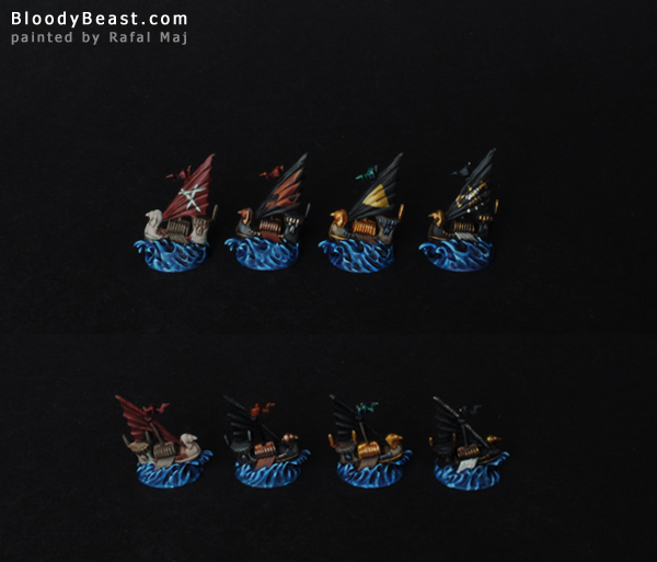 Dreadfleet Auxiliares of the Dreadfleet painted by Rafal Maj (BloodyBeast.com)