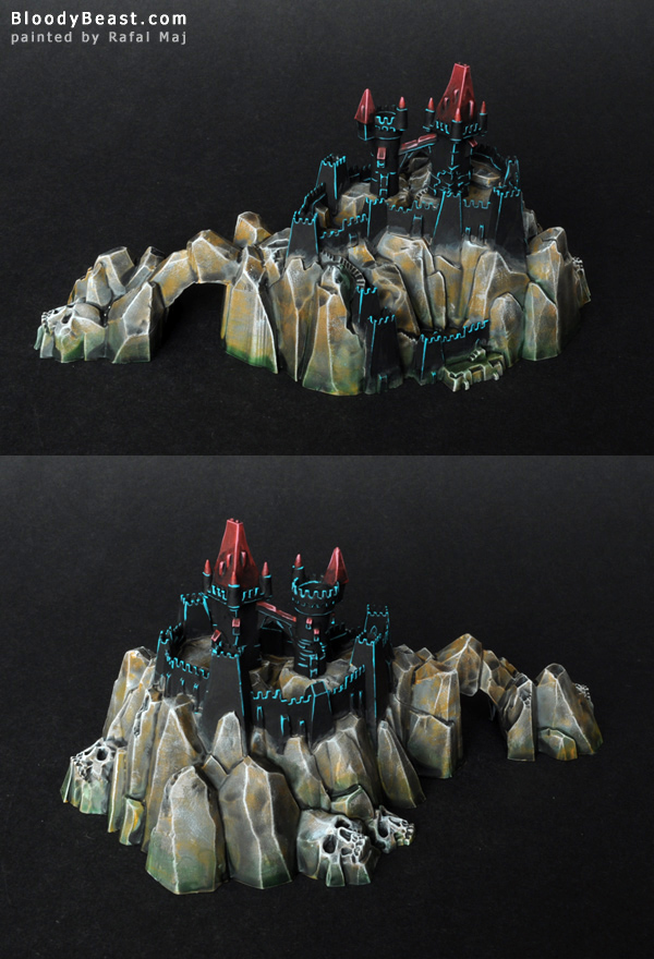 Dreadfleet Castle Island painted by Rafal Maj (BloodyBeast.com)