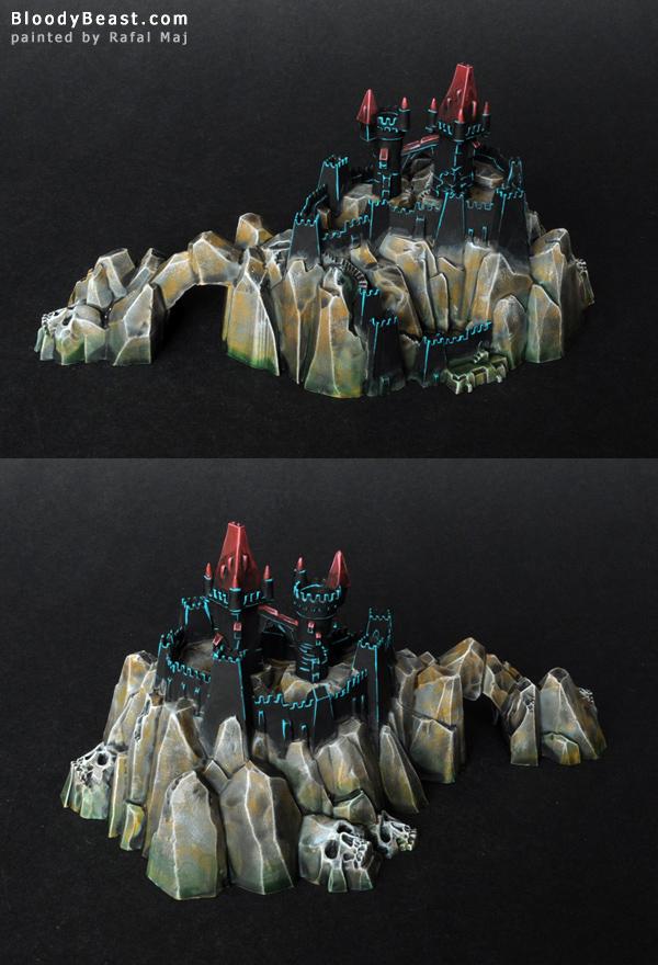 Dreadfleet Castle Island painted by Rafal Maj (BloodyBeast.com)