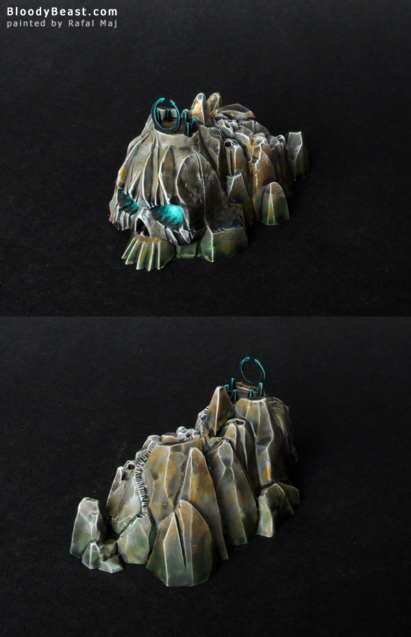 Dreadfleet Corpseface Cliff Island painted by Rafal Maj (BloodyBeast.com)