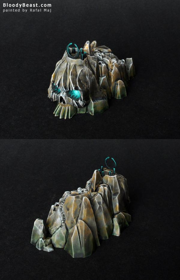 Dreadfleet Corpseface Cliff Island painted by Rafal Maj (BloodyBeast.com)