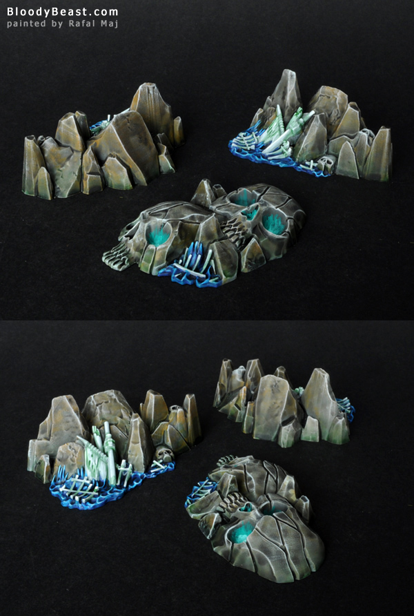 Dreadfleet Skull Island and Rocky Isles painted by Rafal Maj (BloodyBeast.com)