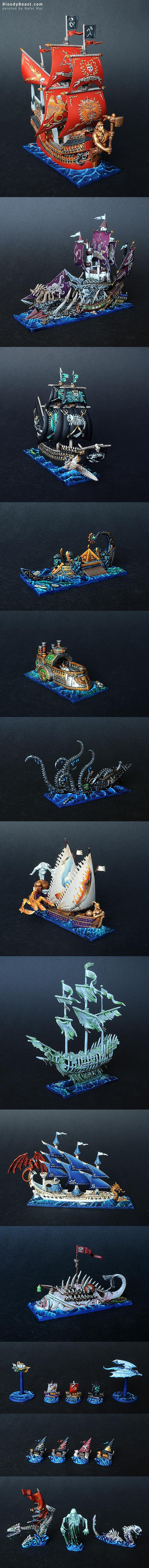 Dreadfleet painted by Rafal Maj (BloodyBeast.com)