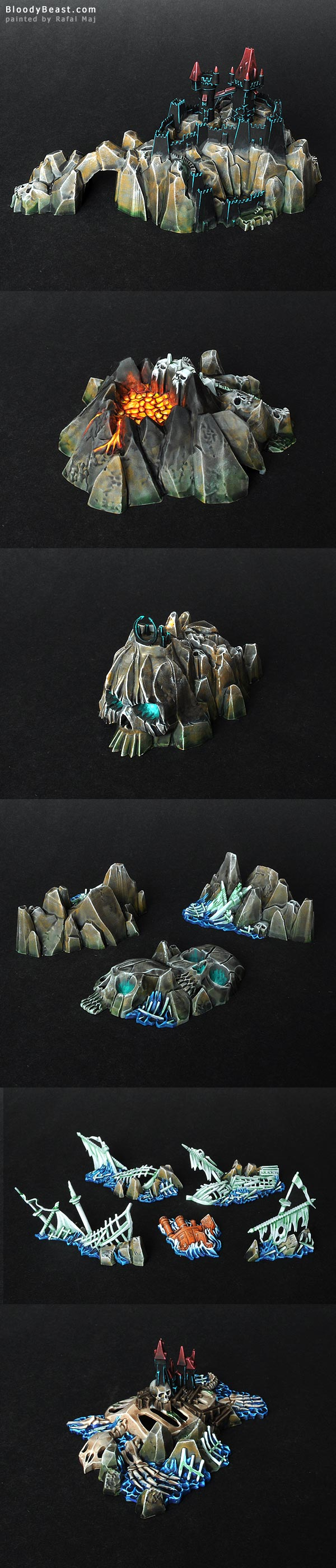 Dreadfleet Islands painted by Rafal Maj (BloodyBeast.com)