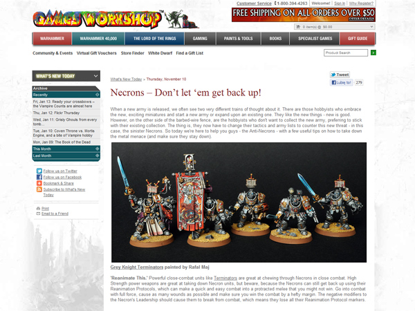 BloodyBeast.com featured on GW website!