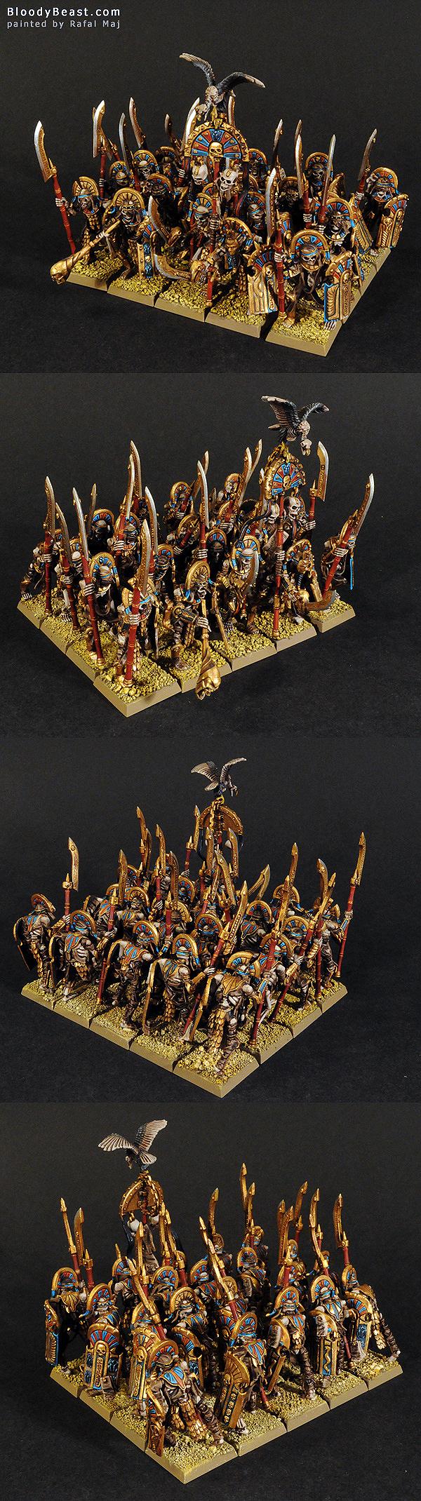 Tomb Kings Tomb Guard Regiment painted by Rafal Maj (BloodyBeast.com)