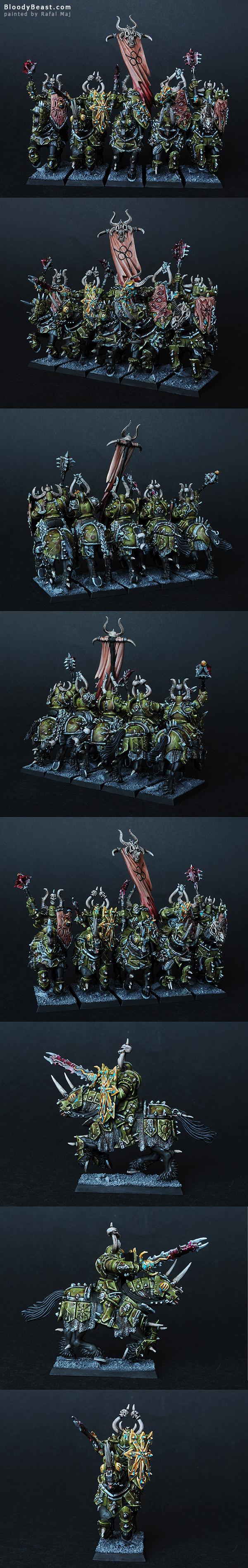 Chaos Knights Of Nurgle painted by Rafal Maj (BloodyBeast.com)