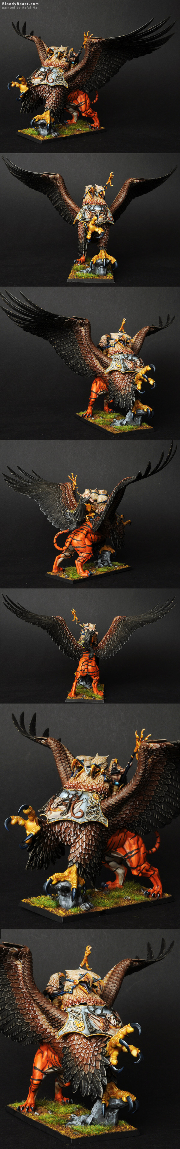 Empire Amber Battle Wizard Lord on Griffon painted by Rafal Maj (BloodyBeast.com)