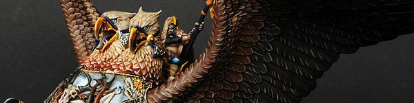 Empire Amber Battle Wizard Lord on Griffon