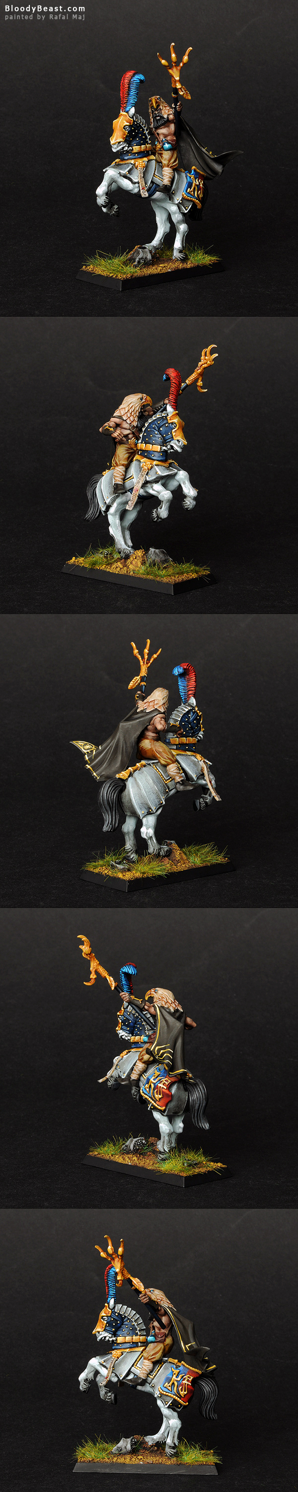 Empire Amber Battle Wizard on Horse painted by Rafal Maj (BloodyBeast.com)