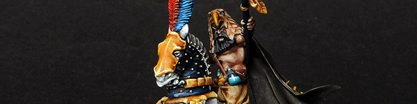 Empire Amber Battle Wizard on Horse