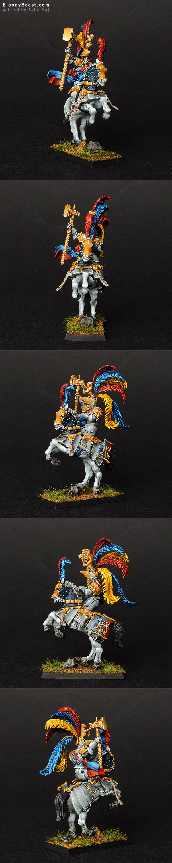 Empire Karl Franz on Horse painted by Rafal Maj (BloodyBeast.com)