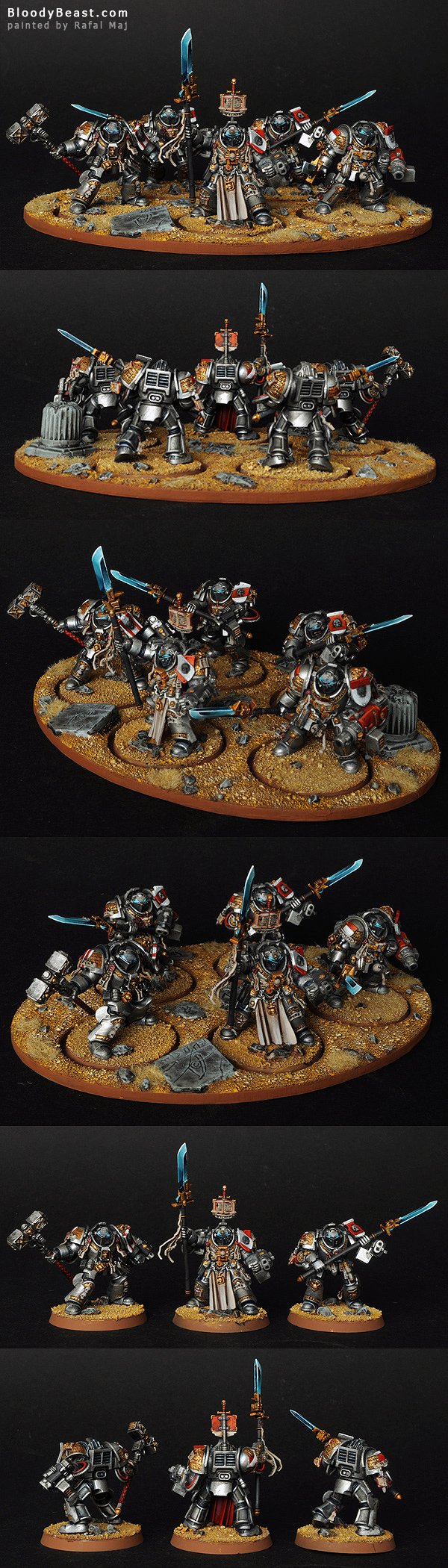 Grey Knight Terminators painted by Rafal Maj (BloodyBeast.com)