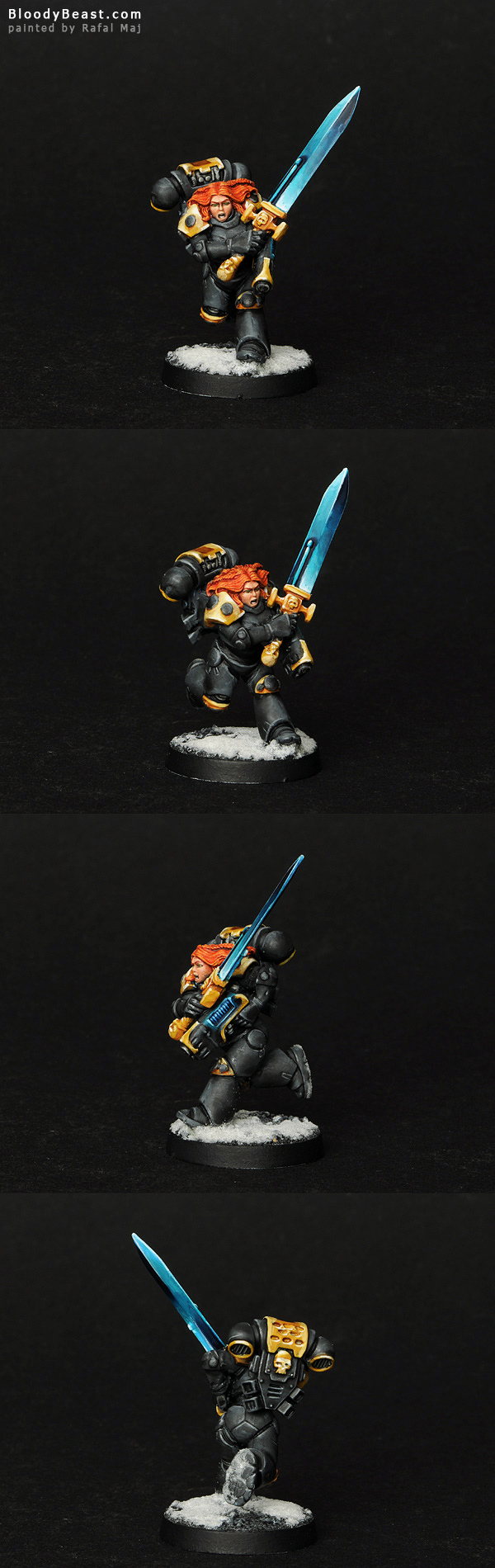 Space Wolves Female Lone Wolf painted by Rafal Maj (BloodyBeast.com)